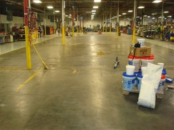 Examples of Industrial / Commercial Concrete Floor resurfacing projects